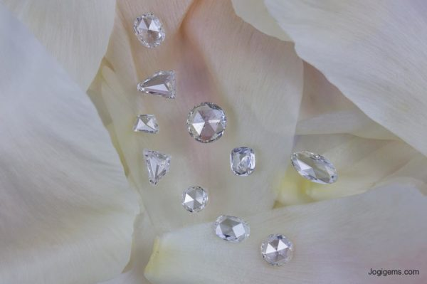 Round shape antique cut diamonds
