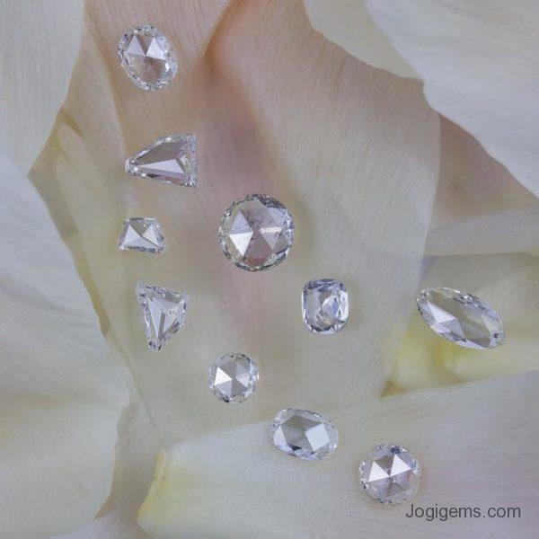 Round shape antique cut diamonds