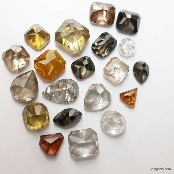 Rare Fancy Antique Cut diamonds
