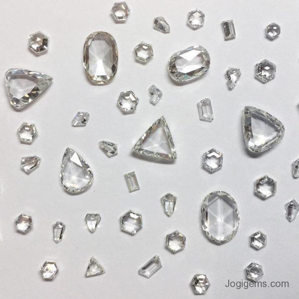 Antique shape Rose Cut Diamonds