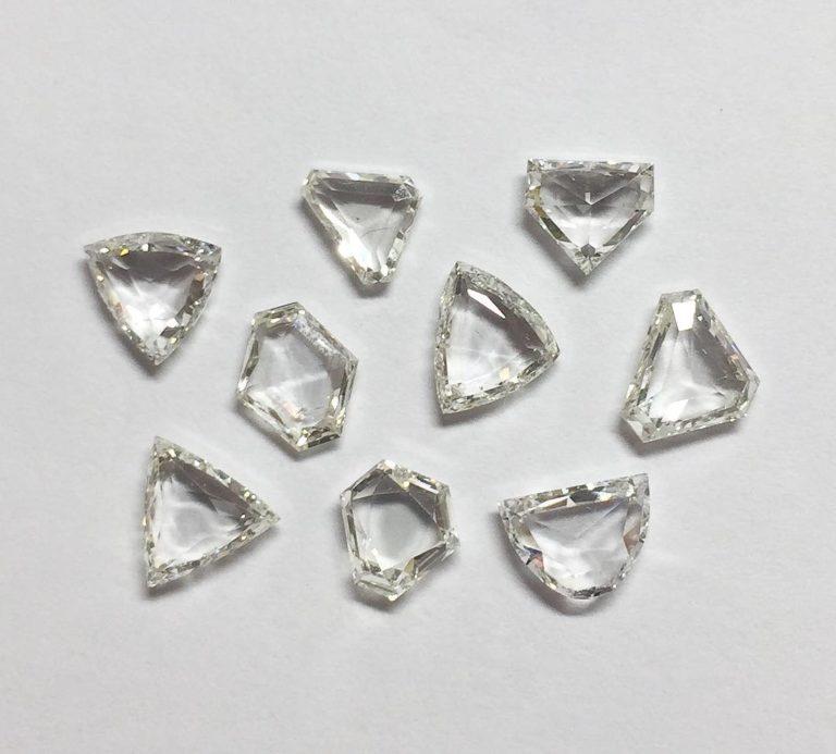 Transparent Antique Shape Diamonds