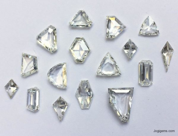 Half moon Cut Antique diamonds