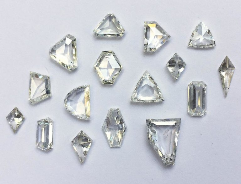 Half moon Cut Antique diamonds