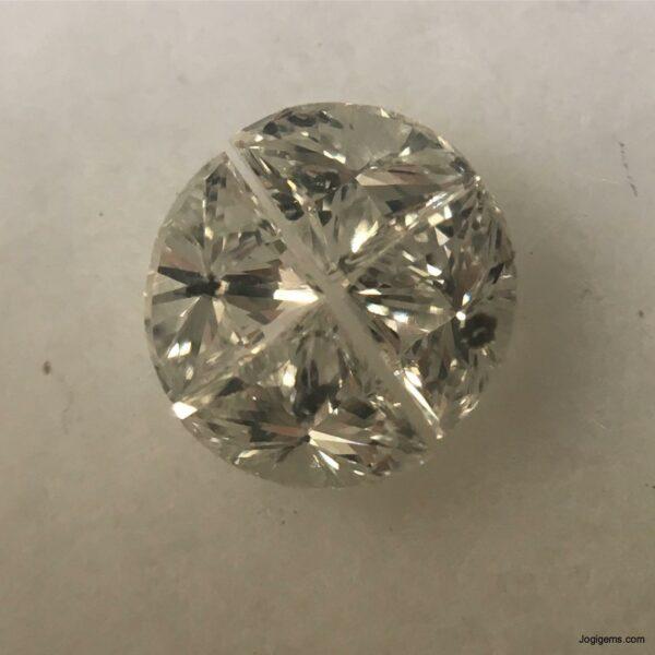 White antique diamond cuts