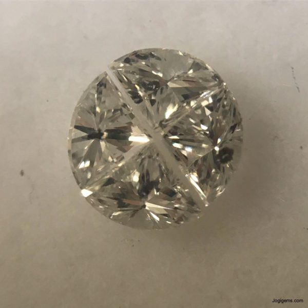 White antique diamond cuts