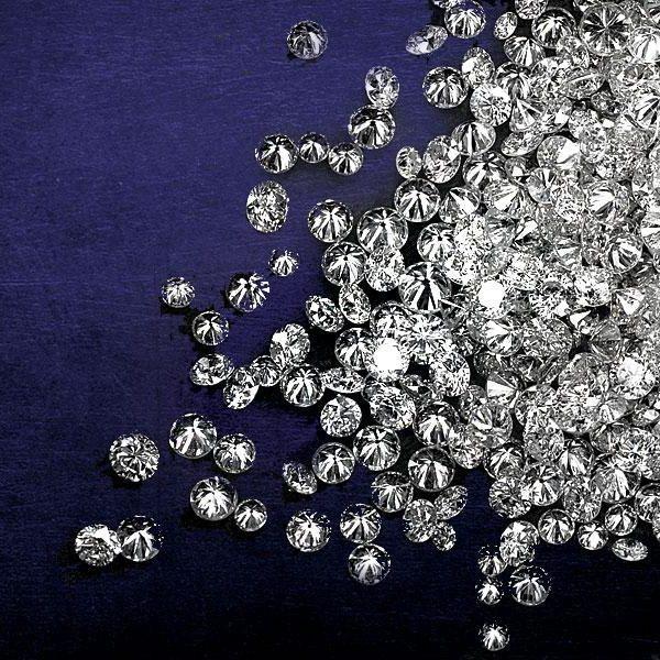 White Round Brilliant Cut Diamonds Manufacturer