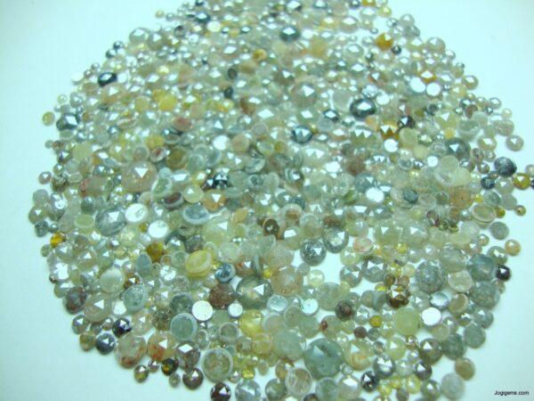 Round Icy Rustic Diamond