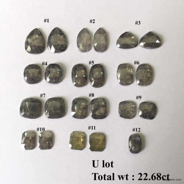 Mix Shape big Natural rustic diamonds