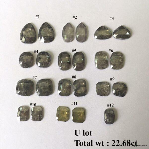 Mix Shape big Natural rustic diamonds