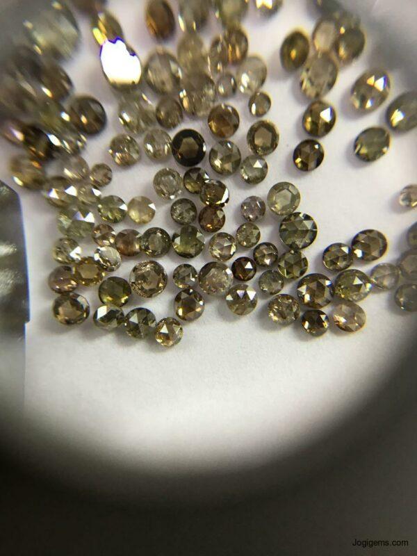 Brown color chakri diamonds