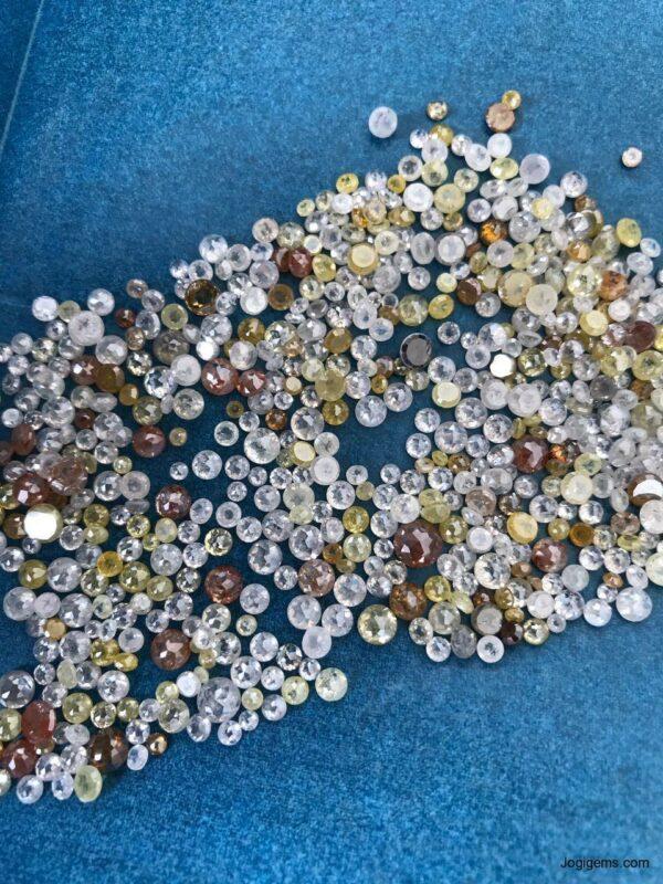 Round Shape rustic diamonds