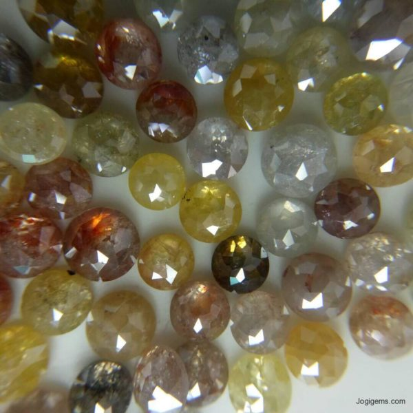 Mix color Round ICY Diamonds Rustic