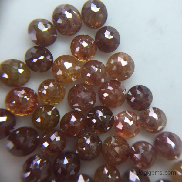 Reddish Round ICY Diamonds Rustic