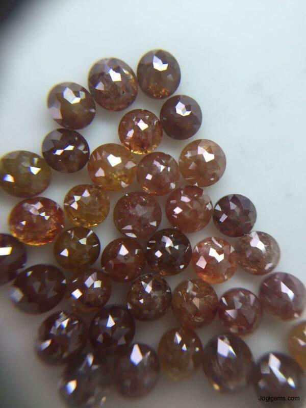 Reddish Round ICY Diamonds Rustic