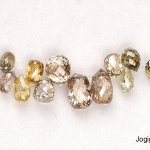 Jogi Gems Briolette Diamond Beads Necklace Manufacturer
