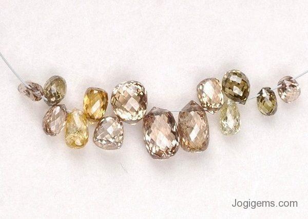 Jogi Gems Briolette Diamond Beads Necklace Manufacturer