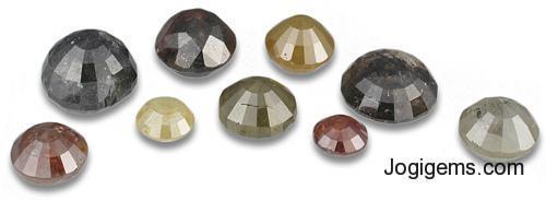 Natural Round Brilliant Cut ICY Rustic diamonds