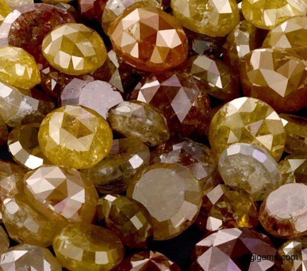 Natural Round Icy Rustic Diamonds