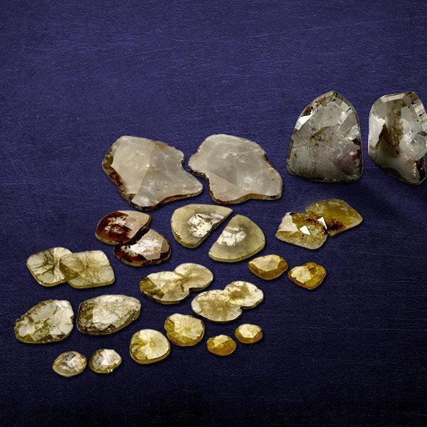 Natural Polki Diamond Slice