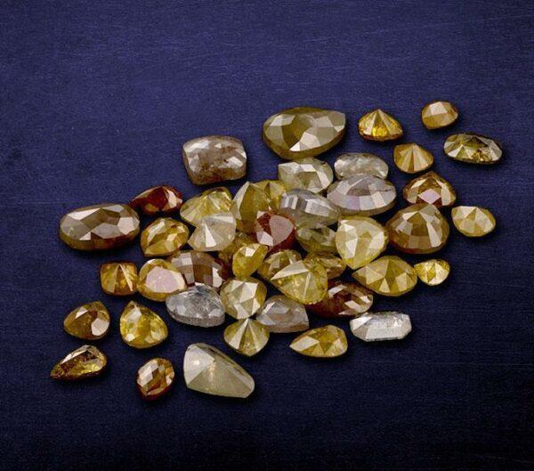 White color Rustic Diamonds ICY