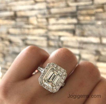 Emerald shape antique diamond collection