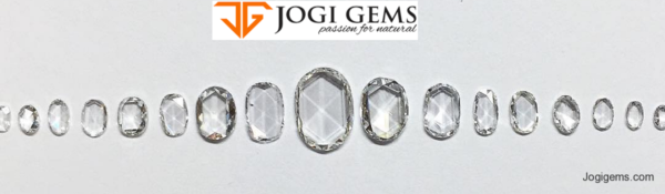 Natural Oval Shape Rose Cut Diamonds