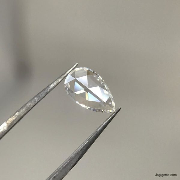 Natural Pear Shape Rose cut diamonds