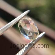 Oval-shaped rose cut diamond
