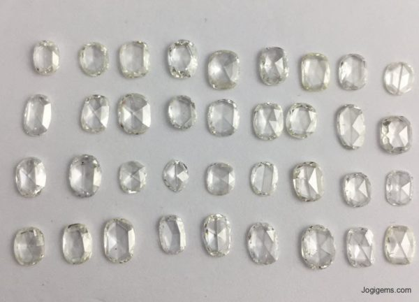 Big Size Oval Rose Cut Diamonds