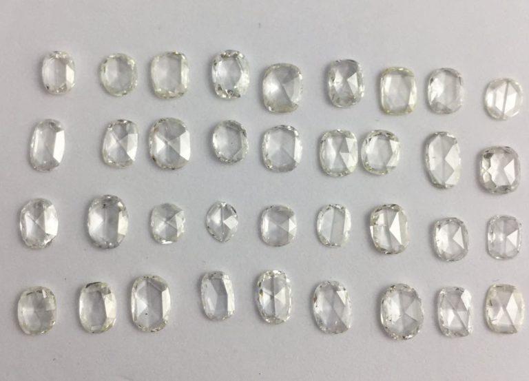 Big Size Oval Rose Cut Diamonds