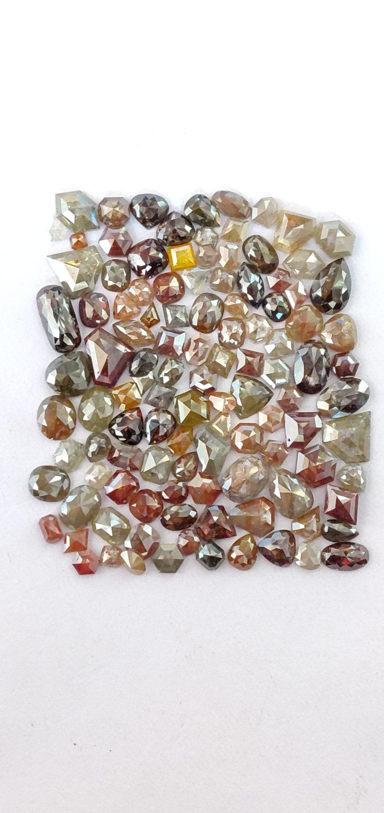 Rustic ICY diamond fancy color
