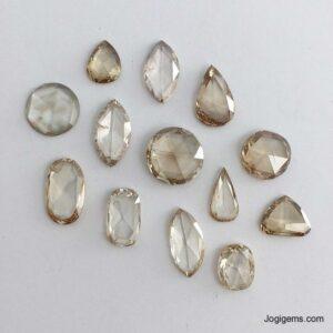 champagne Rose Cut Diamond Manufacturer