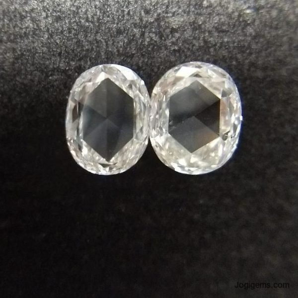 Oval Shape Rose cut Diamond Jogigems
