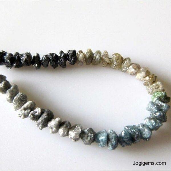 multi color Rough Diamond Beads Necklace Manufacturer