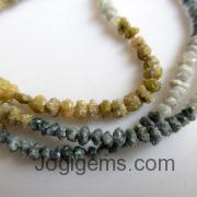 Multi Color Raw Diamond Beads