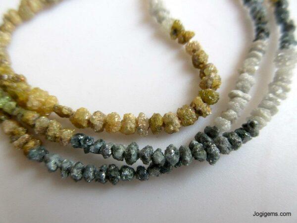 Multi Color Raw Diamond Beads