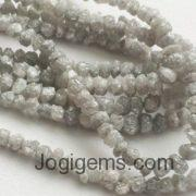 big size raw diamond beads