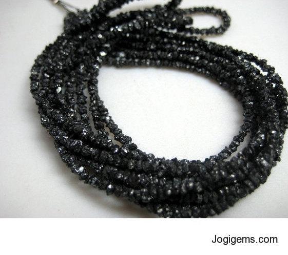 Raw Black Diamond Beads