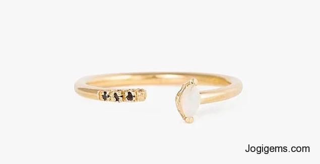 Gold Black Diamond Ring
