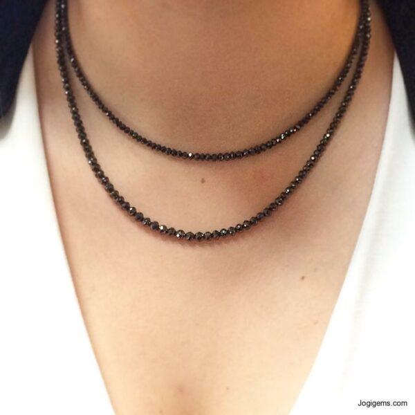 Black Diamond Beads Necklace