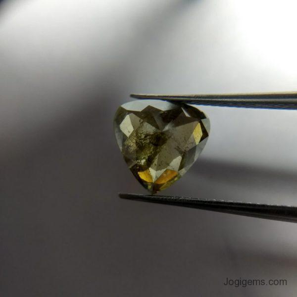 Green pear Rose cut diamond