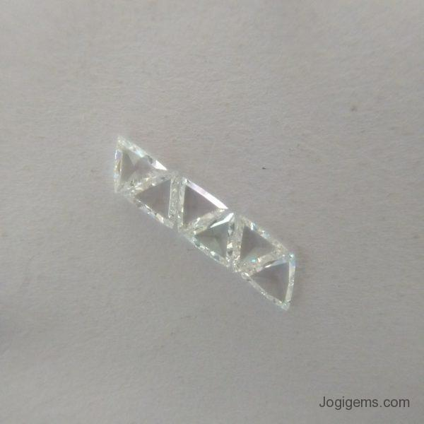 Trillion Shape Rose Cut Diamond Manufacturer