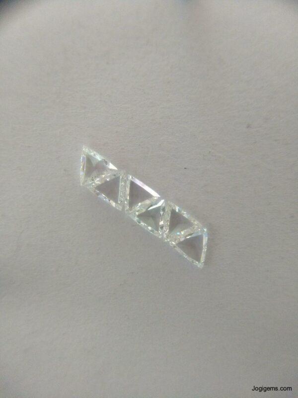 Trillion Shape Rose Cut Diamond Manufacturer