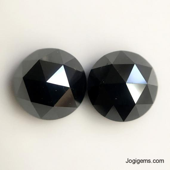 Rose cut black diamond
