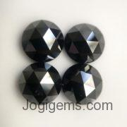 3mm black rose cut diamond