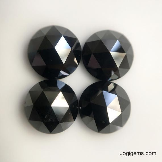 3mm black rose cut diamond