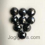 7mm black rose cut diamond
