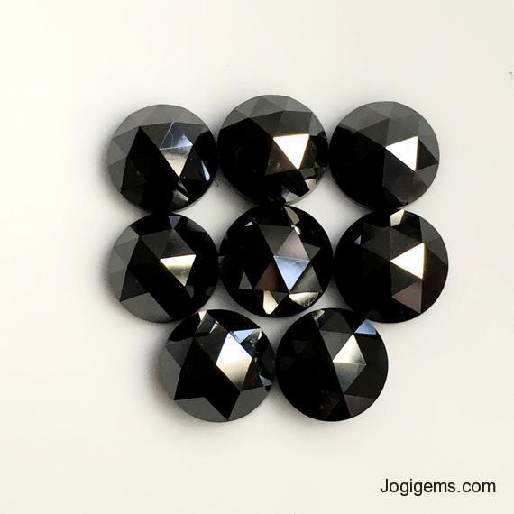 black rose cut diamonds
