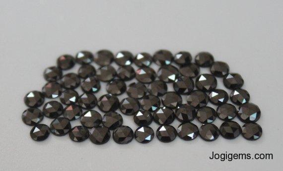 loose natural black rose cut diamond engagment ring