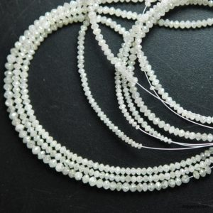 White diamond beads